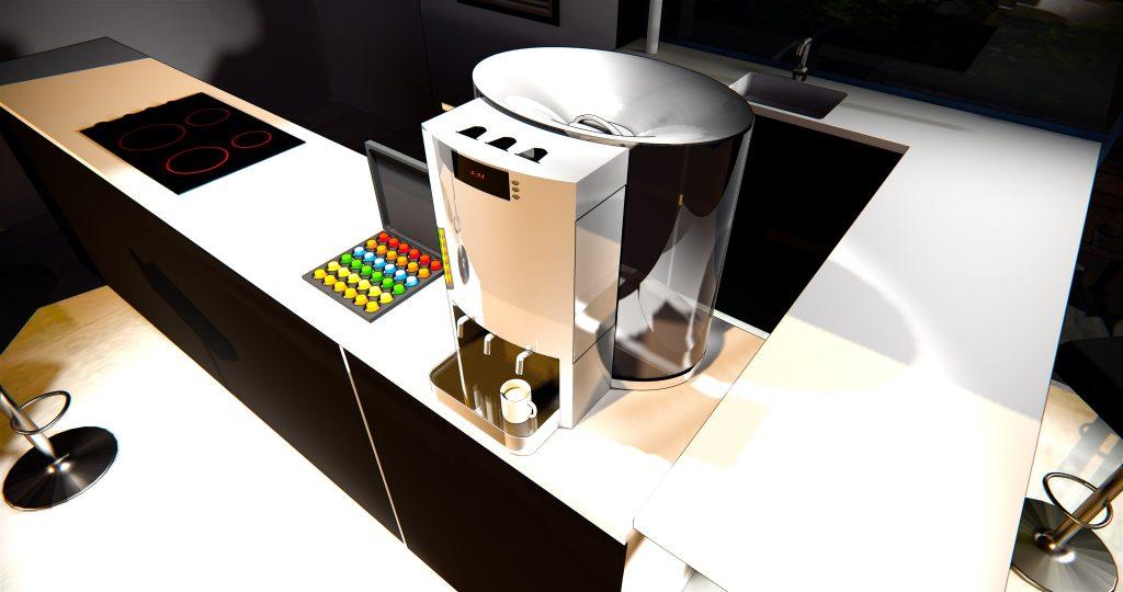 L'ino capsule par Frédéric TABARY, design de cafetière, design produit
