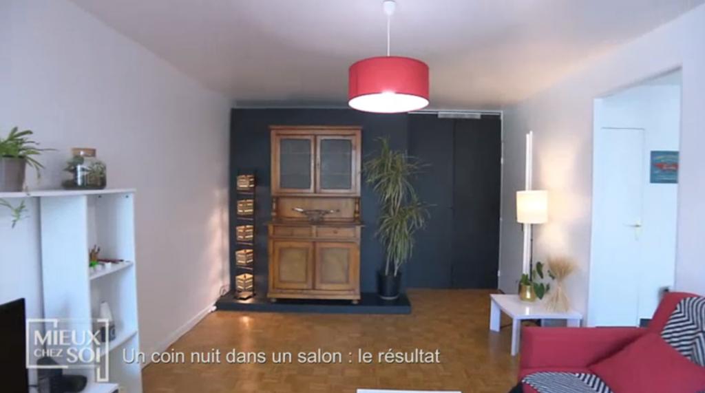 Cloison amovible/lit «Mieux chez soi» 2 juillet 2019 : un salon dégagé