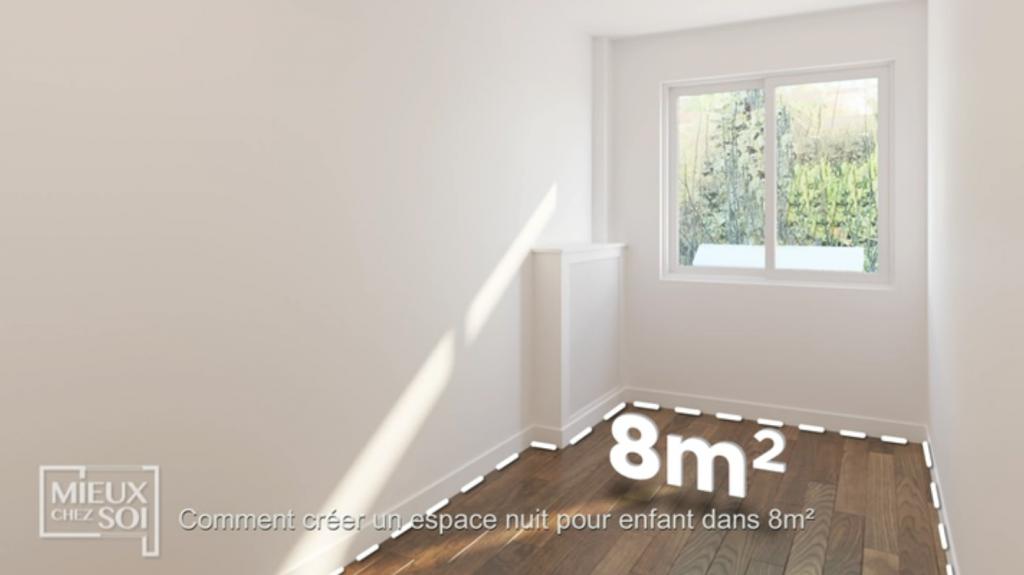 une chambre de 8m² à optimiser.