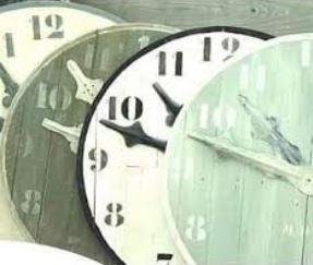 Horloges de 1 mètre de diamètre ( Design Frédéric TABARY)
