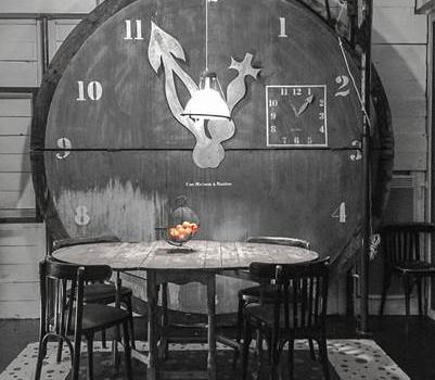 Horloge de grand diamètre réalisée par Frédéric TABARY