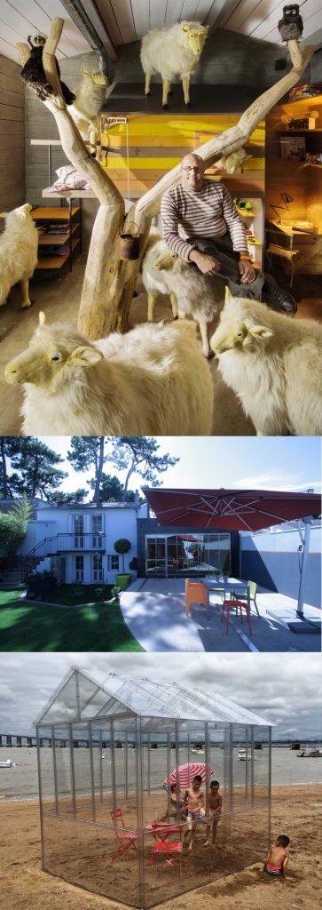 L'agence d'architecture d'intérieur de Frédéric TABARY dans le petit futé 2020  Ici en image, La Cabane de Toane, la Maison roulante, et l'invisible petit serre de Nantes