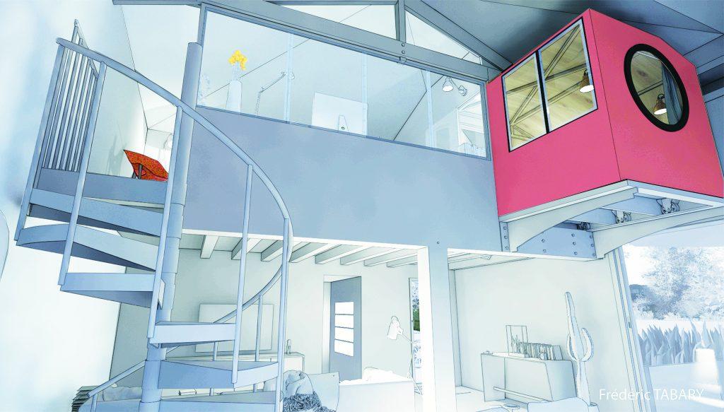 L'agence d'architecture et de design modélise pour vous( professionnels) vos projets en 3D. Sketchup, 3Dstudio max pour modéliser et  Vray, Enscape, Artlantis, Lumion pour les rendus